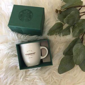 Starbucks White Abbey Demi Espresso Mug 3 OZ